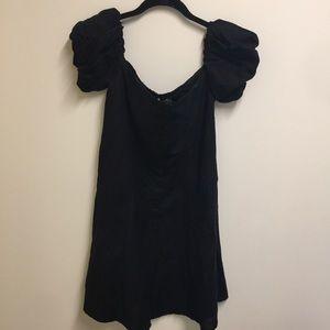 Zara Dresses - NWT Zara off the shoulder black linen dress